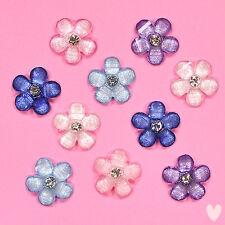DRESS IT UP Embellishments Sparkle Flowers 9380 -  Flatbacked Rhinestone Flowers