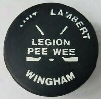 SAINT LAMBERT WINGHAM PEE WEE OHA VICEROY GAME PUCK VINTAGE MADE IN CANADA