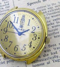 1990s VYMPEL POLJOT 2609H GOLD Vintage Soviet Russian Mechanical Mens Watch