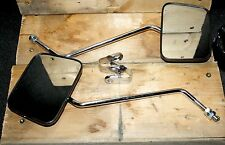 "16-0224 7"" Rise 4 1/2"" Wide Square ""Z"" Style Motorcycle Mirrors 7/8"" Handlebar"