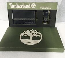 NEW  TIMBERLAND BLACK LEATHER BIFOLD WALLET  WITH KEYFOB GIFT BOXED ...........