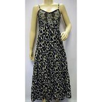 MONSOON BLACK WHITE EMBROIDERED ANIMAL PRINT DRESS SIZE 12 rrp £85