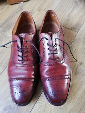 MENS LOAKE SHOES SIZE 8.5 OXFORD DERBY BROGUES