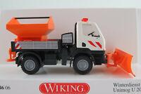 """Wiking 064606 Unimog U 20 (2007) """"Kommunal / Winterdienst"""" 1:87/H0 NEU/OVP"""