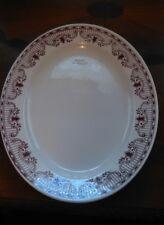 Homer Laughlin Dark Red & White Platter