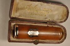 FUME CIGARETTE ANCIEN AMBRE VERMEIL ANTIQUE AMBER CIGARETTE HOLDER