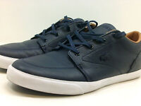 Lacoste Mens Bayliss Vulc PRM Low Top Lace Up Fashion Sneakers, Blue, Size 11.0