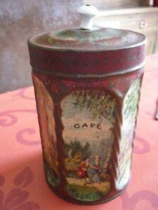 Boîte Tôle Lithographiée Cylindrique 6 Faces CAFE no Moka Chicorée, Publicitaire