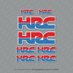 Honda HRC Stickers Repsol Motorcycle Decals Set A5 Sheet Of 8 Stickers - SKU2000