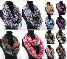 US SELLER-lot of 10 vintage bohemian infinity scarf loop scarf wholesale