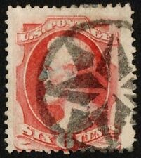 """US Sc# 137a USED { """"I GRILL 6c LINCOLN } FANCY CANCEL""""SCARCE OF 1870 CV$ 1050.00"""