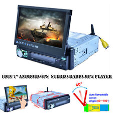 """Single 1Din 7""""Android GPS Flip Car Stereo Radio MP5 Player Touch Screen USB WIFI"""