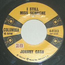 45 RPM Johnny Cash Take Guns 2 Town Miss Someone Columbia Vinyl Record 41313 VG+