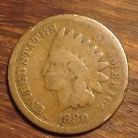 RARE 1880 INDIAN HEAD PENNY CENT NICE DETAILS RARE US POST CIVIL WAR COIN #951C