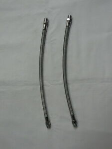 Overhead Oil Feed Lines - Harley Sportster Iron XL, Braided Stainless Steel (A)