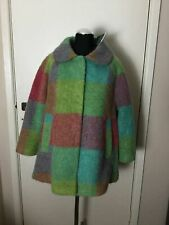 TOPSHOP Coloured Check Wool Swing Coat 60s Vintage Kitsch UK 8 Cost £85
