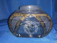 Old Vintage Crystal Glass Butter Box from England 1940