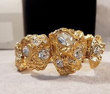 Bracelet Yves Saint Laurent à décor de pépites pierres de verre clair