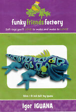 Igor Iguana Soft Toy Pattern by Funky Friends Factory Machine or Hand - Sewable