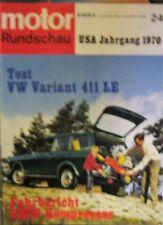 * Motor-Rundschau 24 / 1969 - BMW 2002 Turbo ( Kompressor ) VW 411 LE  Variant *