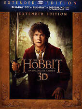 Hobbit-an Unexpected Journey 3d - BLU-RAY 3D Region 1 Brand New Free Shipping