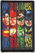 JUSTICE LEAGUE OF AMERICA, EMBROIDERED PATCH superman flash green lantern batman