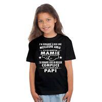 T-shirt  ENFANT FILLE MAMIE PAPI GRAND PERE GRAND MERE
