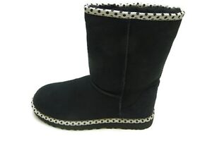 UGG Australia Boots Women's W-Classic Short 78 Boots, Black Ankle Booties 8