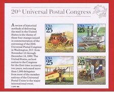 #2438  MNH OG   souvenir sheet of 4  Mail Transportation  Free S/H