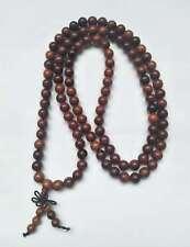 collana perle 8mm di legno per uomo donna