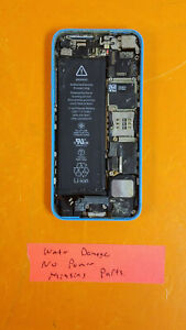⭐️⭐️⭐️⭐️⭐️ Apple iPhone 5c AT&T 8GB A1532 Blue Clean IMEI **AS IS WATER DAMAGE**