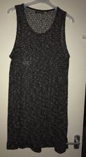 Brand New Ladies Next Black Patterned Sleeveless Long Tunic Top. Size 22