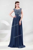 Wedding Party Prom Evening Formal Long Womens Dresses Size 6 8 10 12 14 16 18 20