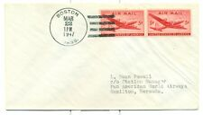 1947 PANAM FAM 18-60b FLIGHT COVER BOSTON,MA. TO HAMILTON,BERMUDA.