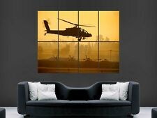 BOEING AH-64 APACHE HELICOPTER ARMY POSTER PRINT GIANT