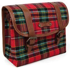 Checky wide Red camera bag - vintage canvas dslr instax mini 8 cute RF case digi
