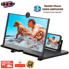 12 Inch Mobile Phone Video Amplifier 3D Enlarged Screen Magnifier Home Cinema-UK