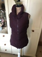 JOULES Merriton Ladies Burgundy Padded Quilted Bodywarmer Gilet Size 12