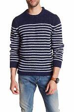 NWT Diesel Men's K-Boletus Pullover Wool Blend Sweater Midnight Blue Size L $198