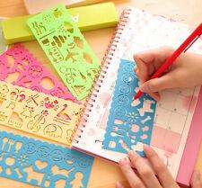 1Pcs Plastic Fun Drawing Template Spirograph Toy Stencil Ruler DIY Randomly Gift