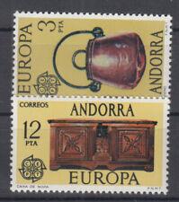 Briefmarken Europa Andorra (sp.. Post) CEPT ** 1976 Michel 101-102 Versand 0 EUR