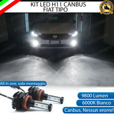 KIT LED H11 6000K CANBUS XENON 9800 LM LUMEN FENDINEBBIA FIAT TIPO