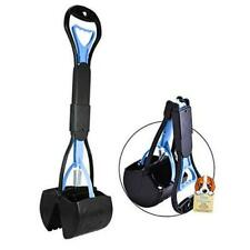 Non-Breakable Pet Pooper Scooper for Dogs and Cats with Long Handle High Blue