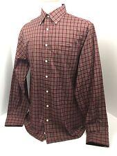 Duck Head Classic Burgundy Check Long Sleeve Shirt Men's Large