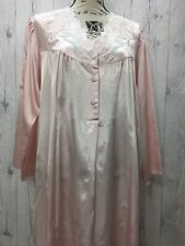 ETIENNE NWT Pink Vintage Satin Soft Brushed Lining Lounger Nightgown Size Small