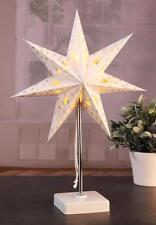 LED Paper Star Desk Lamp Table Bedside Light with 8 Warm White Festive Lights