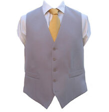 "100% Wool Dove Grey Backed Waistcoat 38"" Regular"
