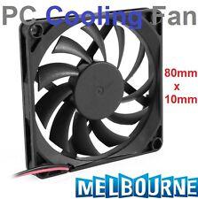 New 12V 80mm x 10mm Brushless PC CPU Cooling Fan Cooler 2 Pin 8cm x 1cm Radiator