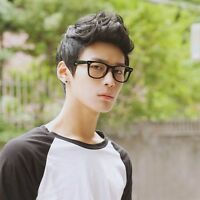 Top Korean Men's Handsome Short Straight Hair Full Wigs Cosplay Party Black New