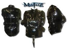 MISFITZ MENS BLACK PVC BUCKLE RESTRAINT BONDAGE STRAITJACKET SIZES Small-4XL